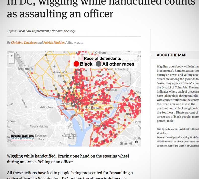 Assault on Police Officer / Interactive Map